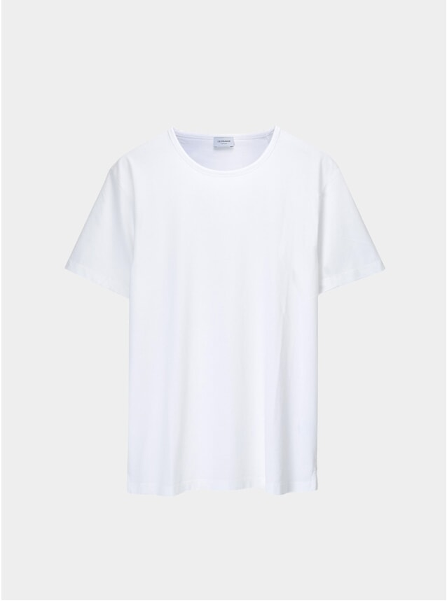 White Supima Cotton Tailored T-Shirt