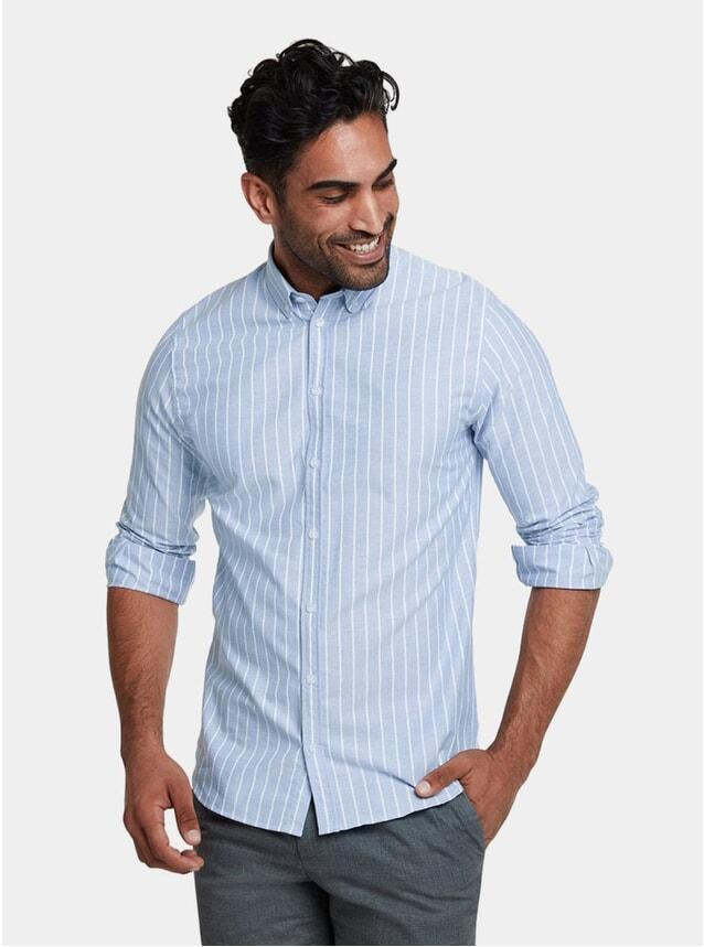 Milk-Stripe Blue Casual Shirt