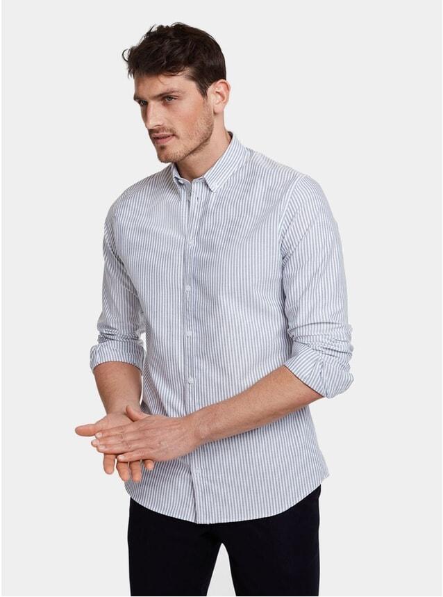 Navy Stripe Casual Shirt