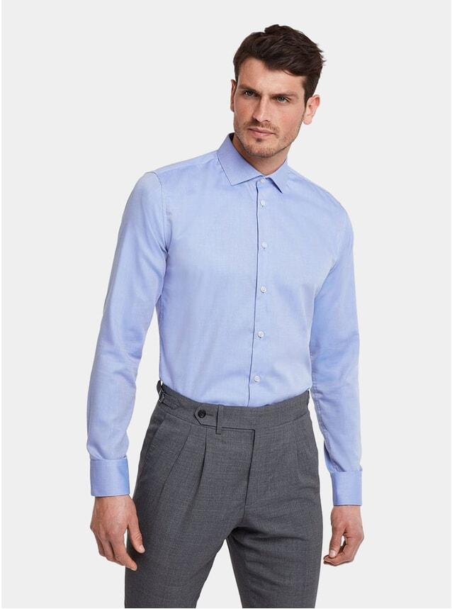 Premium Blue Wrinkle-free Business Shirt