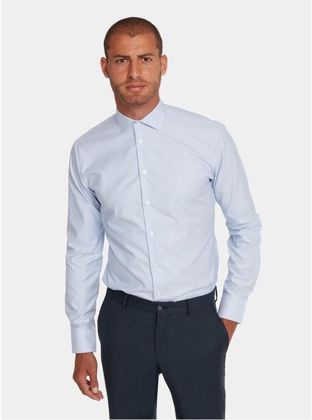 Striped Blue Business Shirt