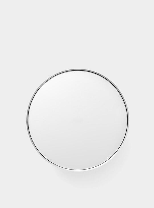 Large Brushed Aluminium Darkly Mirror