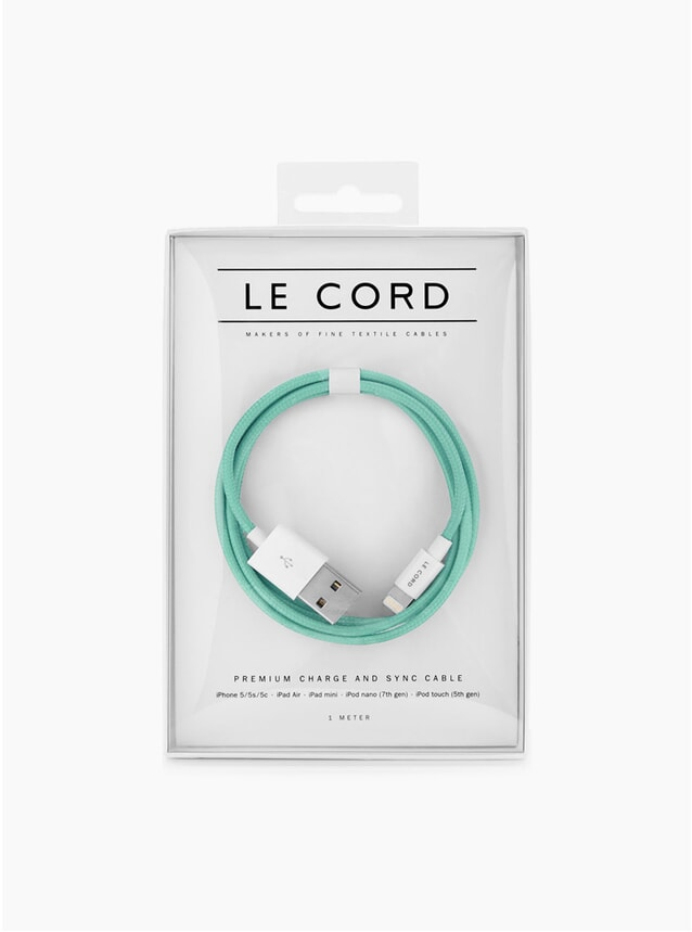 Solid Robin Turquoise Charging Cable