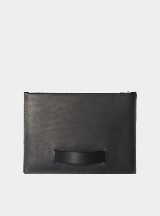 Black Tablet Hand Pouch