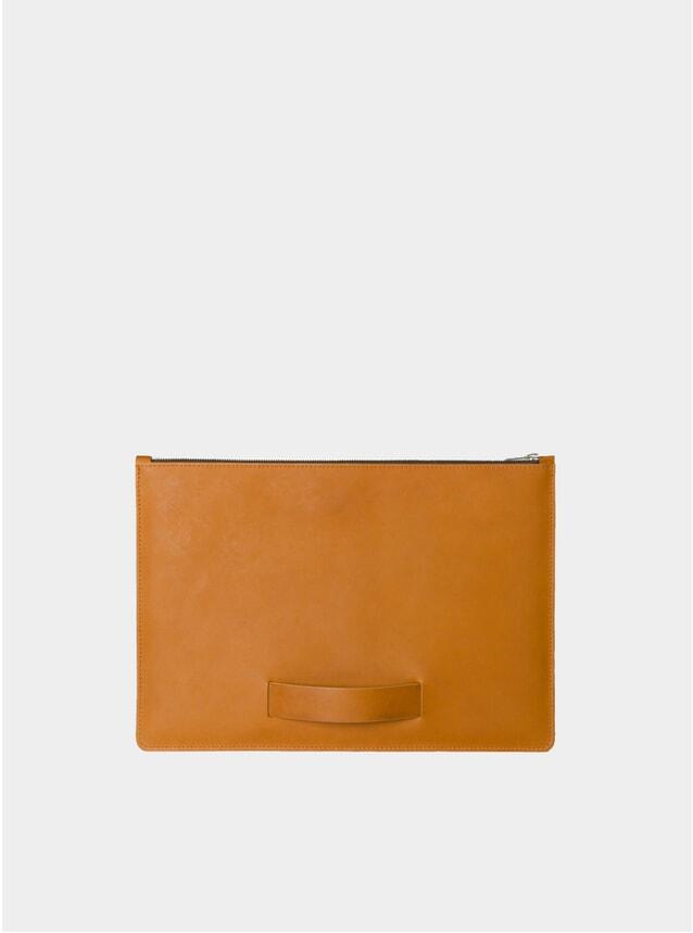 "Cognac Hand Strap Medium 13"" Laptop Sleeve"