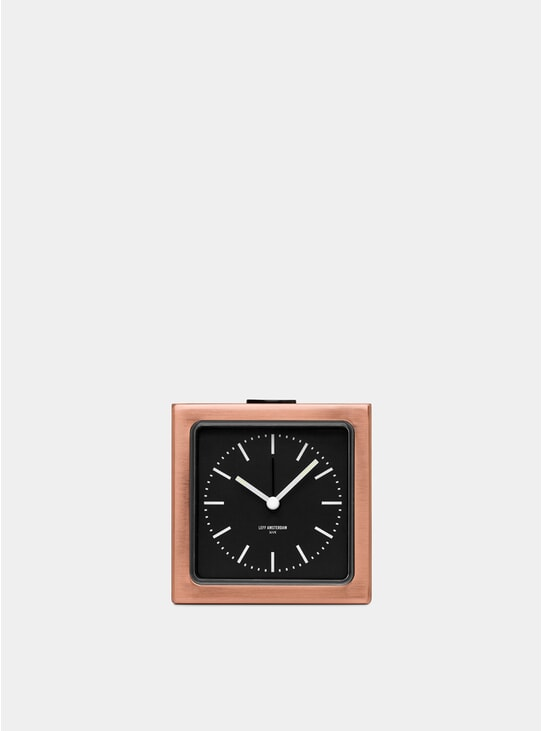 Copper / Black Block Alarm Clock