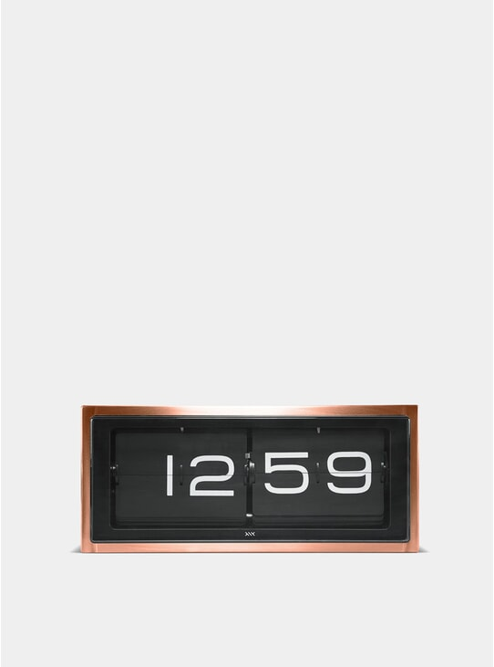 Copper Brick Clock