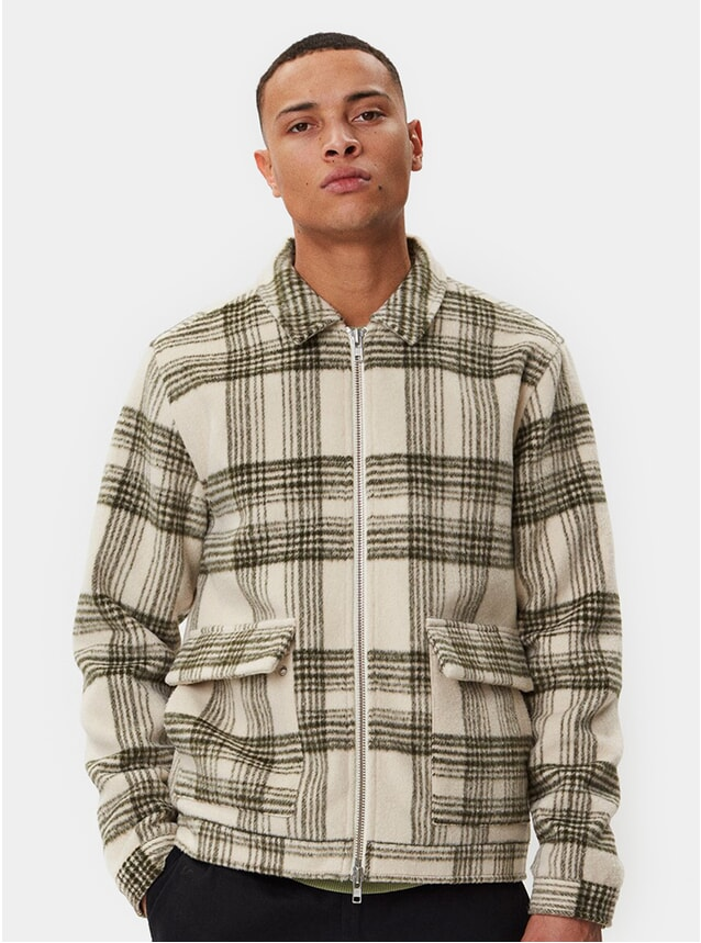 Beige Check Ortega Jacket
