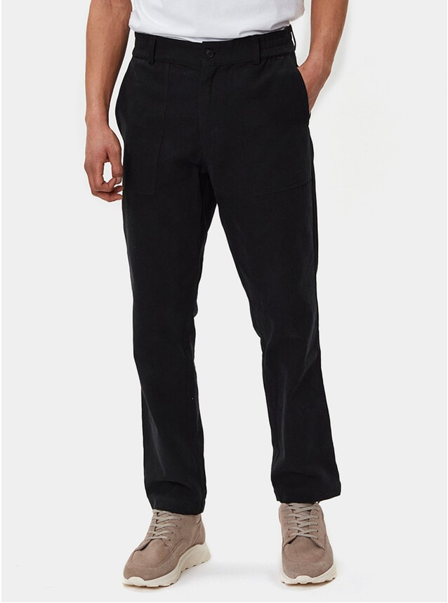 Black Ventura Trousers