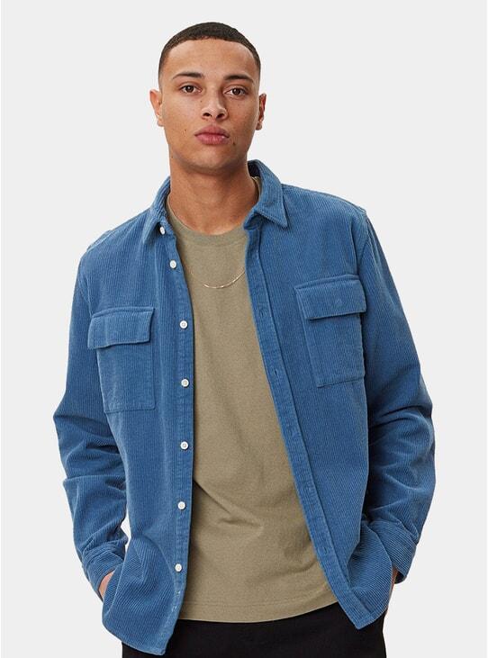Blue Amalfi Corduroy Shirt