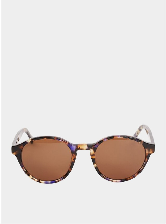 Blue Dot Tortoise Tulum Sunglasses