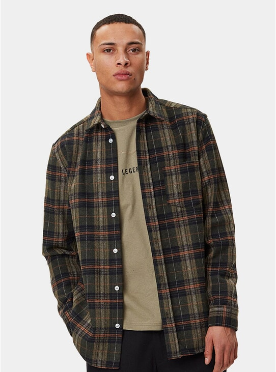 Dark Check Odessa Wool Shirt