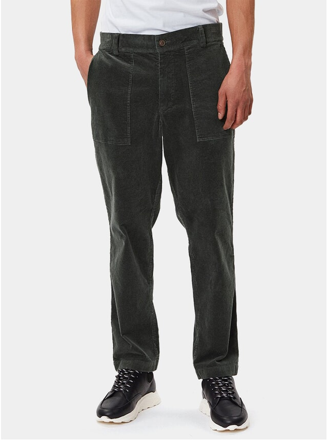 Dark Green Ventura Corduroy Trousers