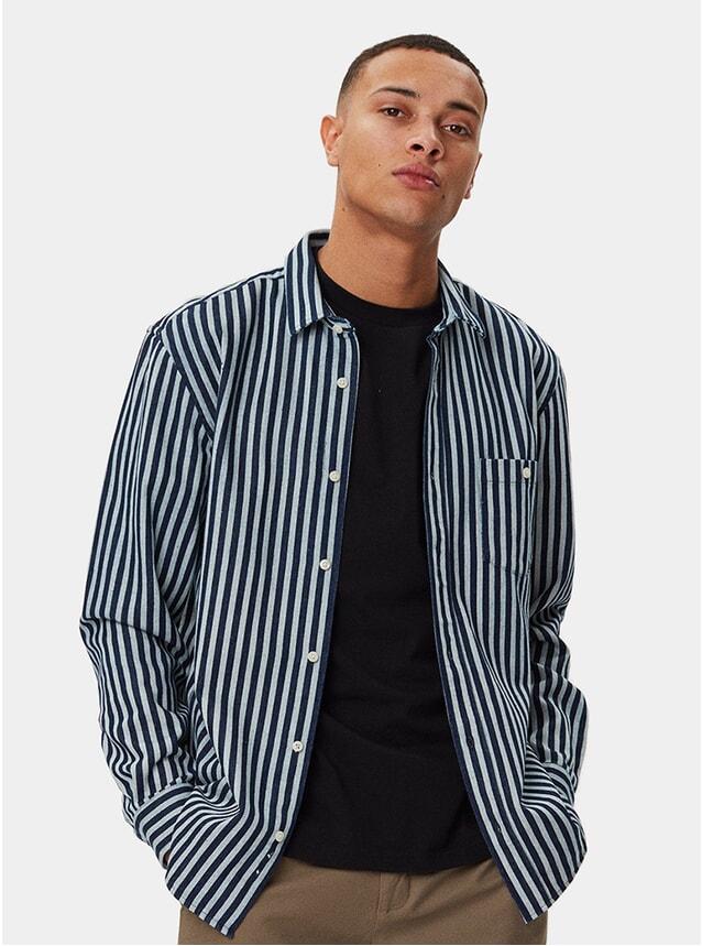 Indigo Striped Odessa Shirt
