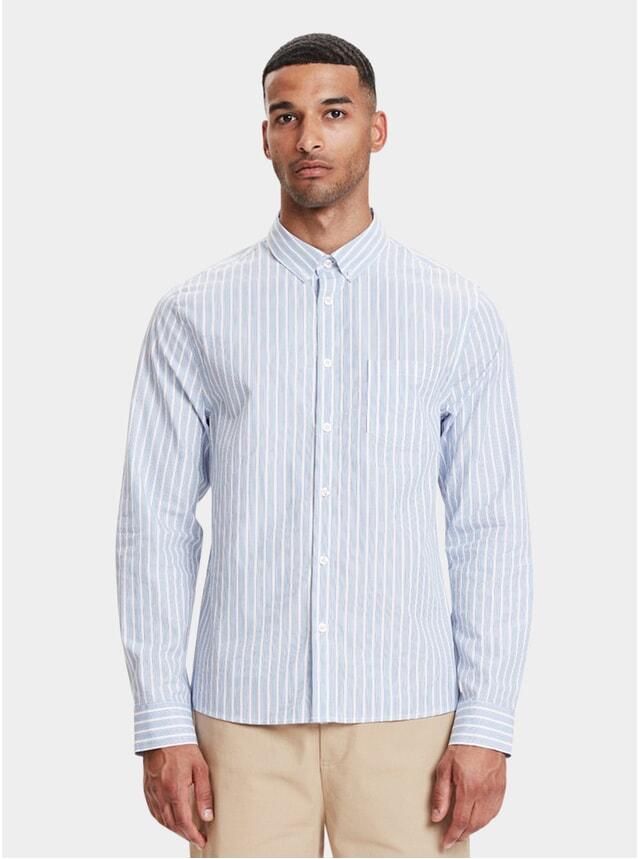Light Blue Striped Lagos Shirt