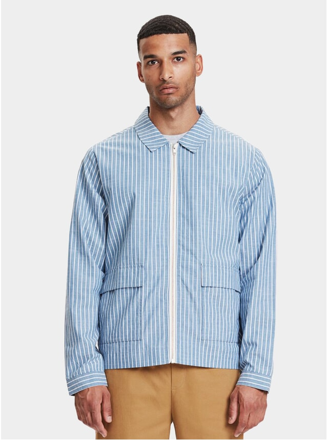 Light Blue Striped Ortega Jacket
