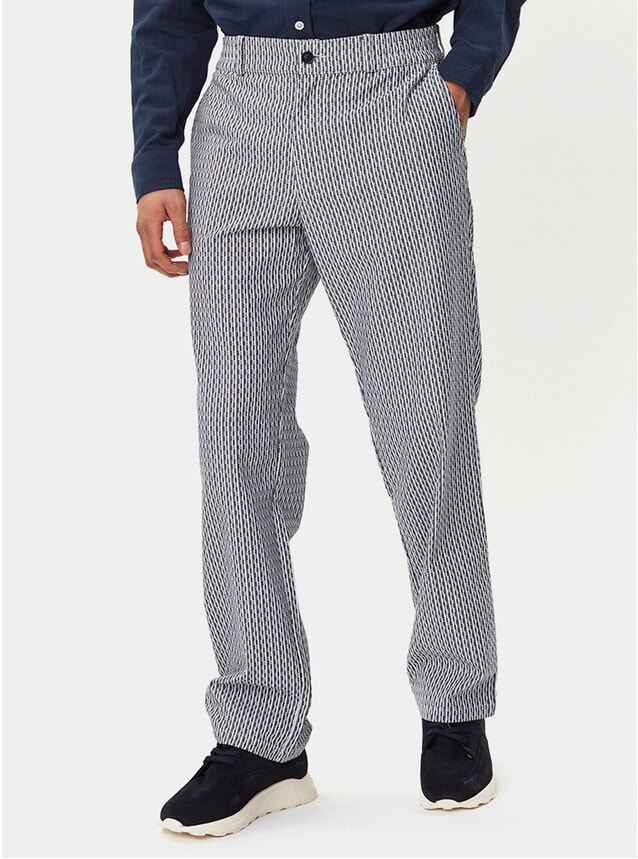 Navy Striped Maverick Trousers