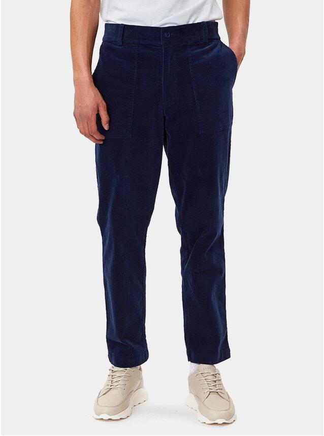 Navy Ventura Corduroy Trousers