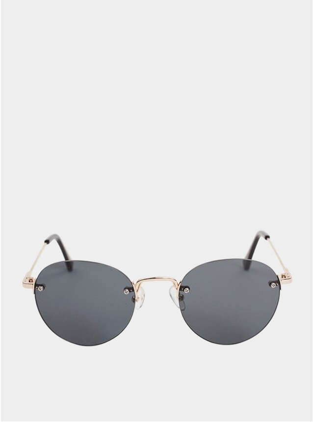 Rimless Gold Medllin Sunglasses