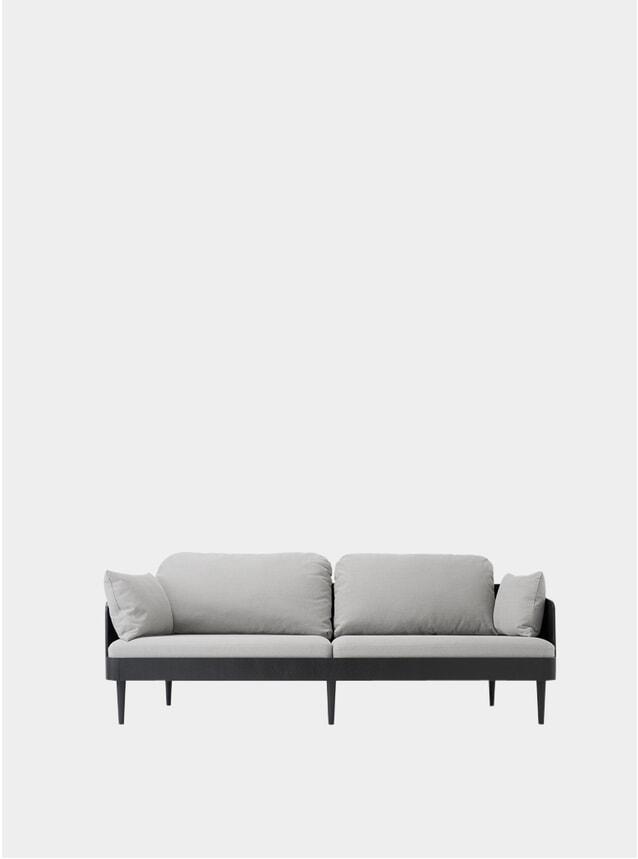 Light Grey / Black Ash Septembre 3 Seater Sofa