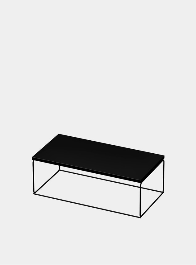 Black DL1 Tangram Rectangular Side Table