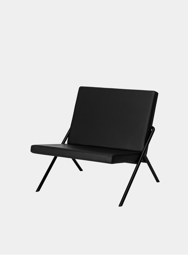 Black Nappa Leather DL2 Euclides Lounge Chair