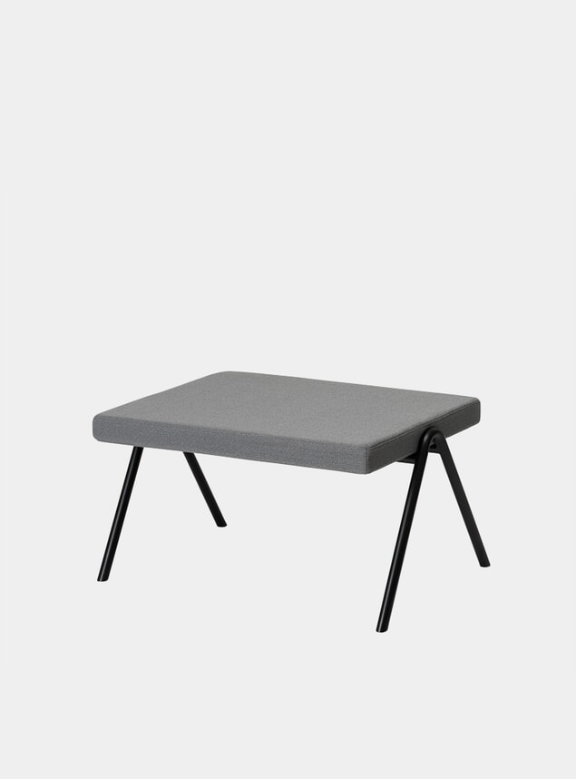 Graphite / Black DL6 Ottoman