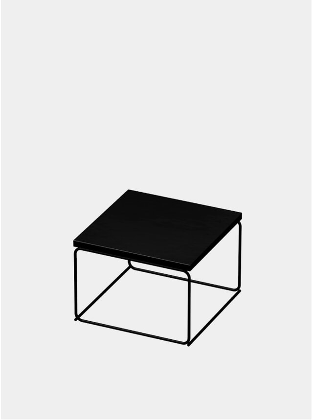 Jet Black DL1 Tangram Square Side Table