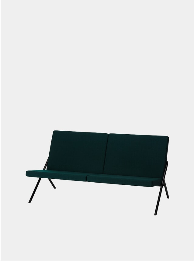 Moss Green DL2 Euclides Two Seater Sofa