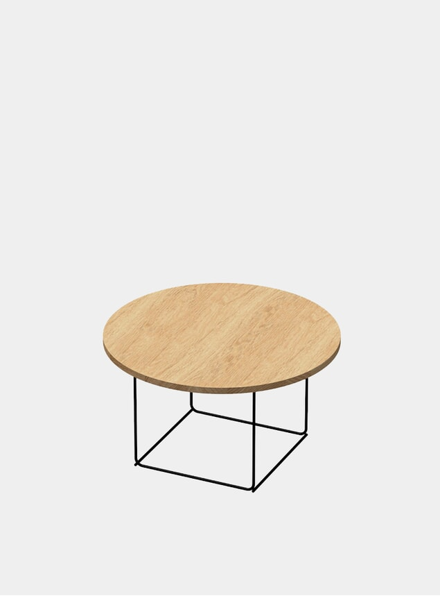 Natural Oak / Black DL3 Umbra Round Side Table