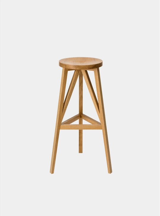Natural Oak JL4 Faber Bar Stool