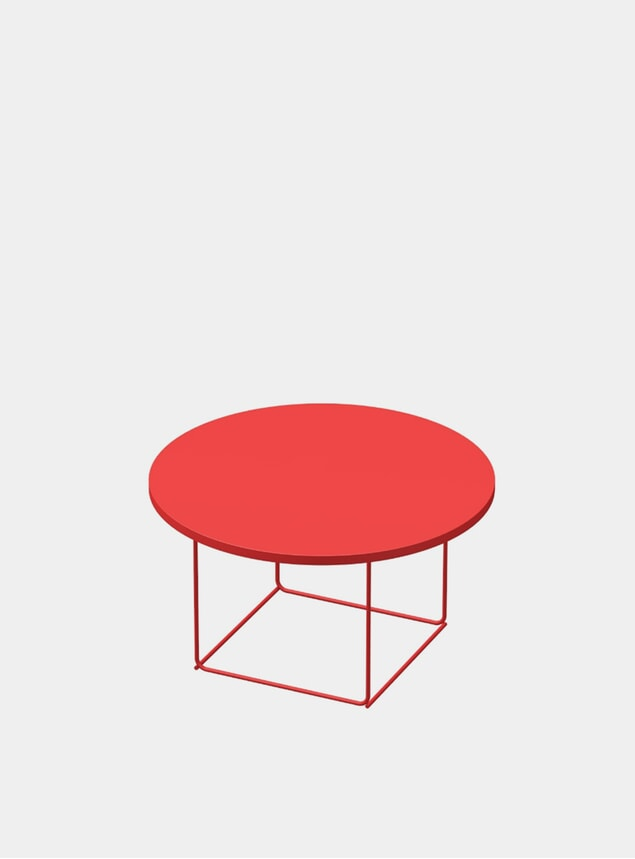 Pure Red DL3 Umbra Round Side Table