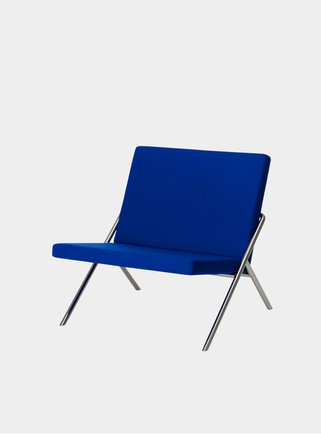 Ultramarine / Steel DL2 Euclides Lounge Chair