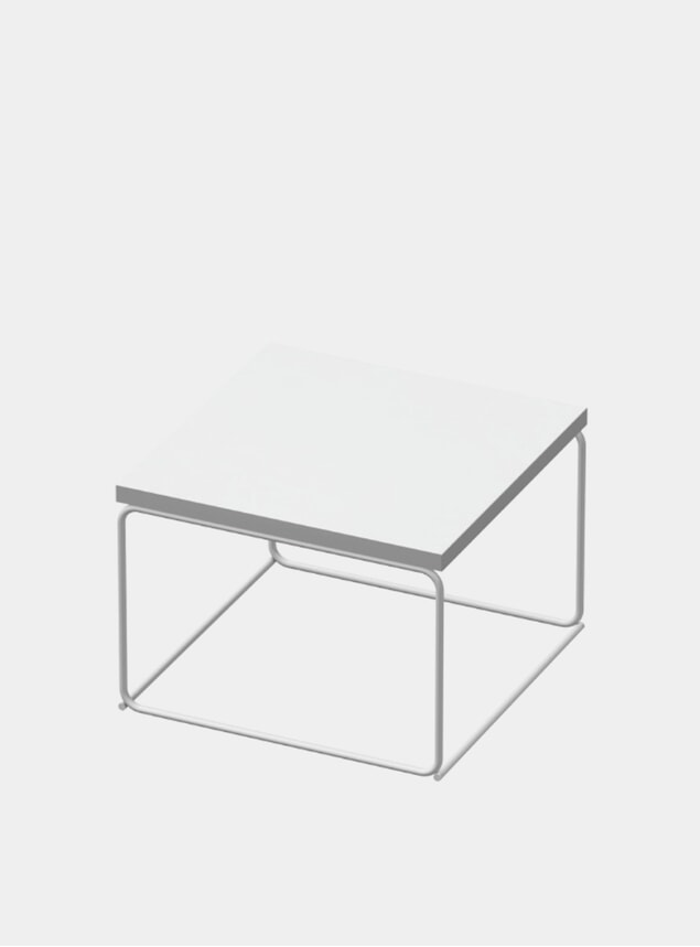 White DL1 Tangram Square Side Table