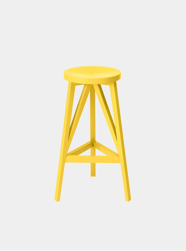 Zinc Yellow JL4 Faber Bar Stool