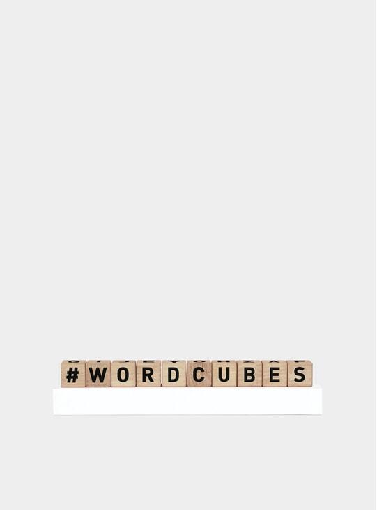 Black Word Cubes