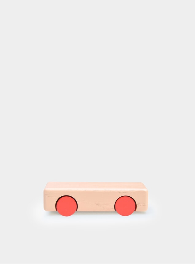 Nude / Red Solid Mini Car