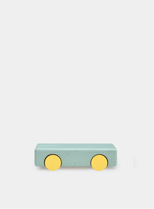 Olive / Yellow Solid Mini Cars