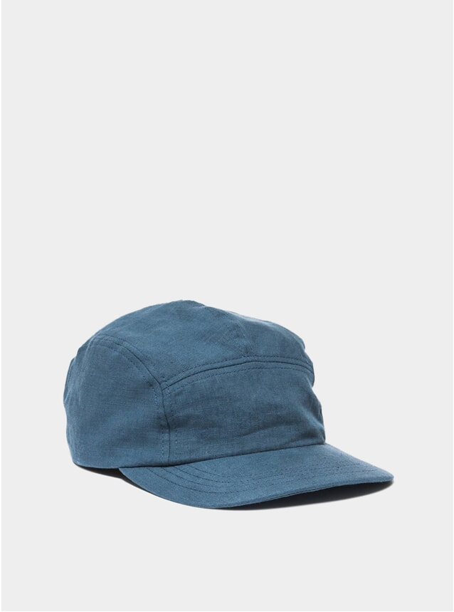 Blue Linen Trail Cap
