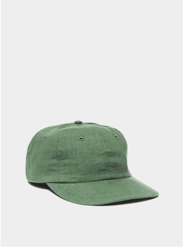Green Linen Mesa Cap
