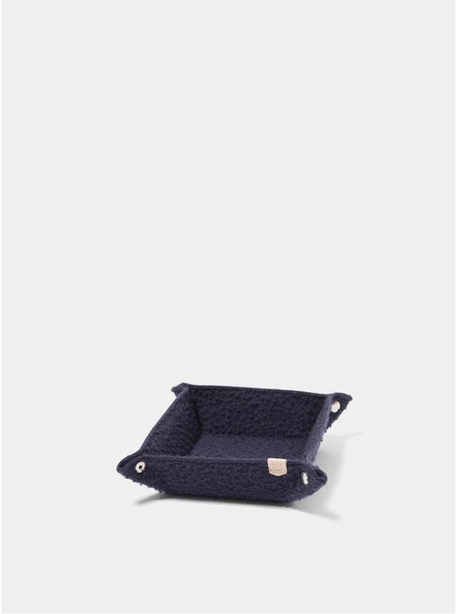 Navy Casentino Wool Desk Tray