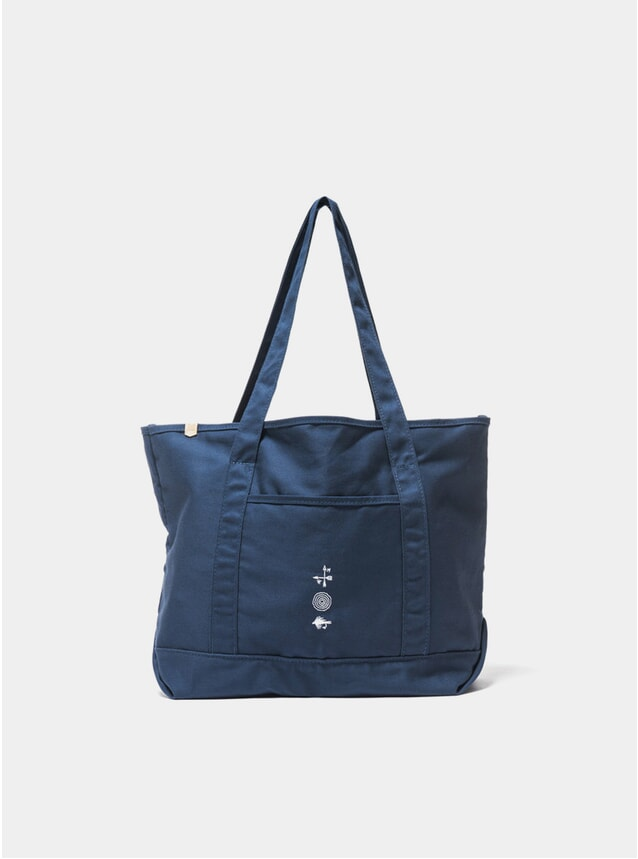 Navy Grocery Tote Bag