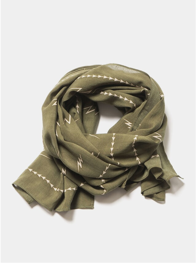 Olive Big Bolts Scarf
