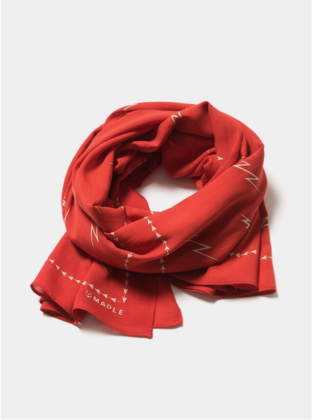 Red Big Bolts Scarf
