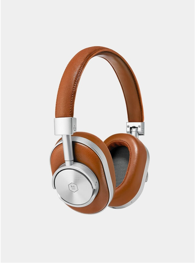 Silver / Brown MW60 Wireless Headphones