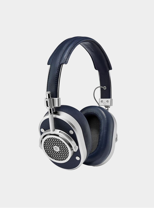 Silver / Navy MH40 Headphones