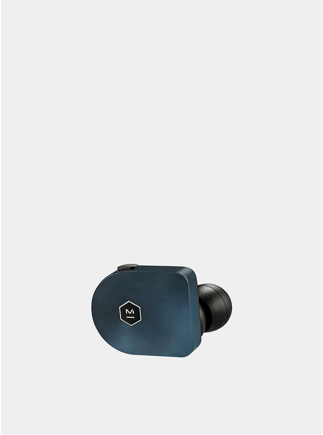 Steel Blue Matte Acetate Wireless MW07 Earphones