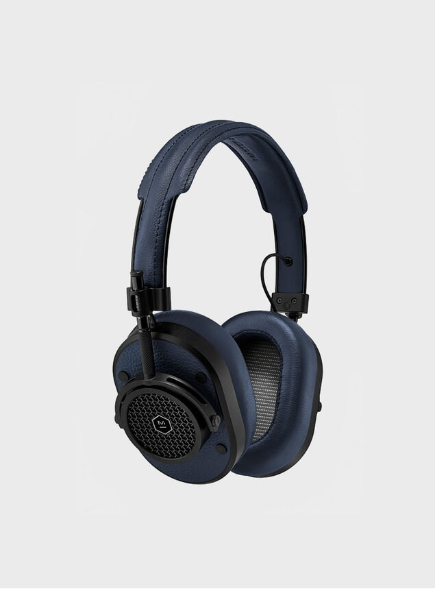 Black / Navy Leather MH40 Headphones