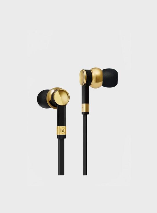 Brass / Black Rubber ME05 Earphones