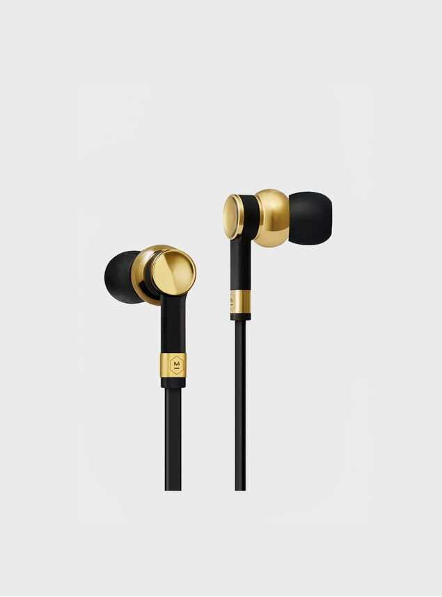 Brass / Black Rubber ME05 Earphones